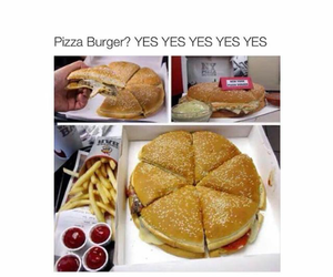 food, funny, and pizza image