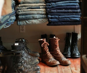 boots, jeans, and clothes image