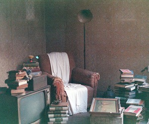 abandoned house, analogic, and brown image