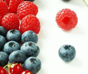 blueberry, colorful, and strawberry image