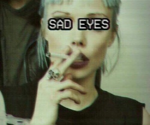 sad, grunge, and eyes image