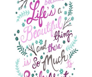 beautiful, life, and quote image