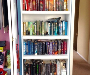 books, rainbow, and reading image