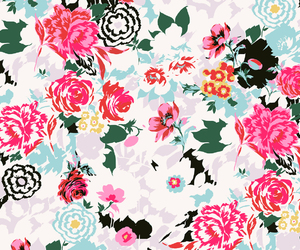 wallpaper, floral, and flowers image