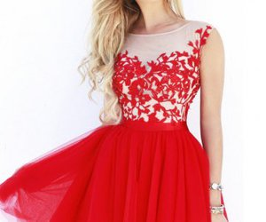 red nude homecoming dress image