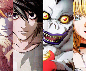 death note, ryuk, and L image