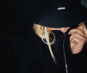 adidas, black, and blonde image
