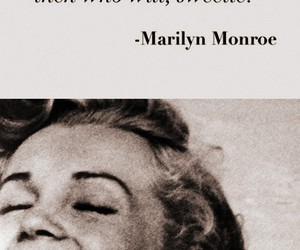Marilyn Monroe, model, and quote image