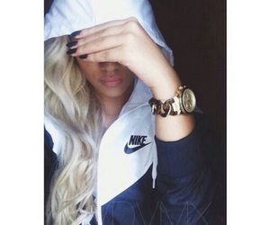 nike, blonde, and gold image
