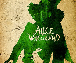 alice in wonderland, minimalist, and disney image