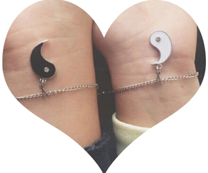 bracelet, friends, and white image