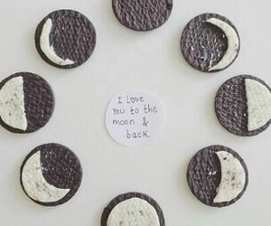 oreo, moon, and love image