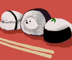 animation, chopsticks, and japanese food image