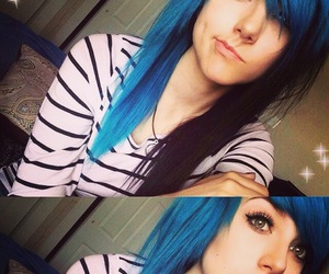 blue hair and mde image