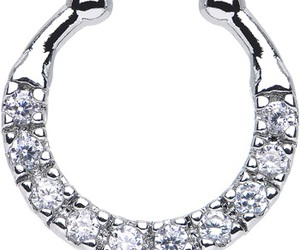 diamond, jewelry, and nose ring image