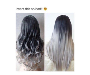 curly hair, goals, and grey hair image