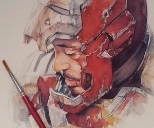 iron man, art, and Marvel image