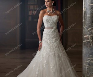 wedding dress, wedding, and princess image