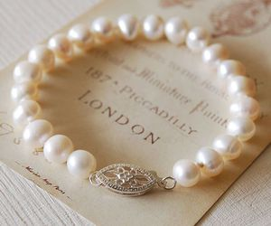 pearls, beautiful, and bracelet image