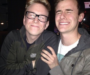 tyler oakley, connor franta, and conler image