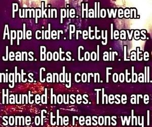 fall, football, and Halloween image