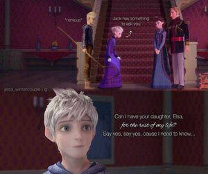 jelsa, frozen, and jack frost image