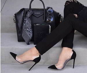 fashion, shoes, and bag image