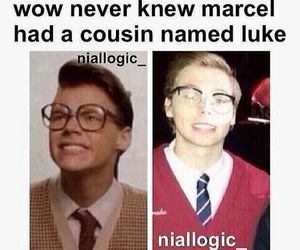 LUke, marcel, and Harry Styles image