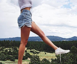 body, outfit, and shorts image