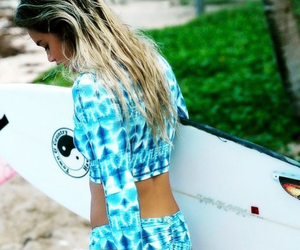 blond, board, and girl image