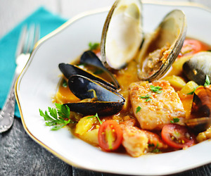 fish, spanish, and Mussel image