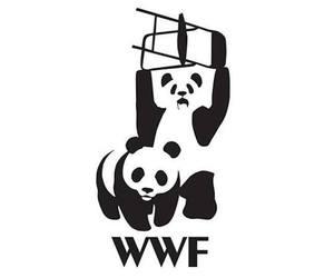 animals, black and white, and WWF image