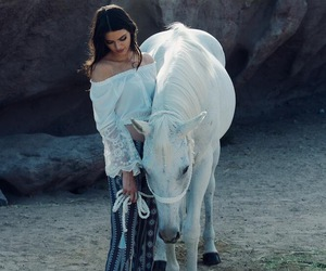 kendall jenner, horse, and model image