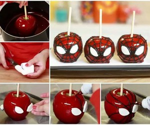 apple, spiderman, and diy image
