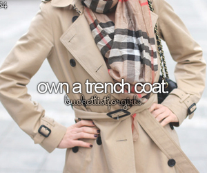 beautiful, clothes, and trench coat image