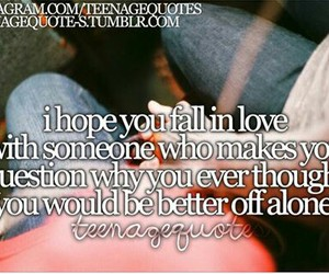 fall in love, quote, and Relationship image