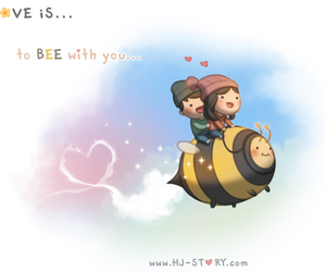 love, cute, and bee image