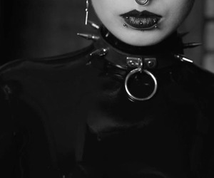 black, gothic, and piercing image