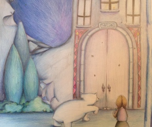 story, color pencil, and drawing image
