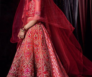 indian, red, and bridal image