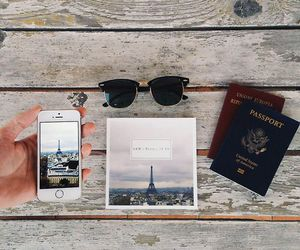 travel, paris, and passport image