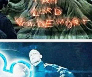 harry potter, funny, and lord voldemort image