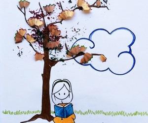 autumn, drawing, and virgola image