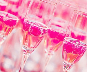 drink, champagne, and pink image