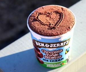 ice cream, chocolate, and heart image