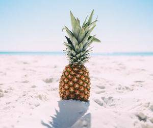 beach, pineapple, and sand image