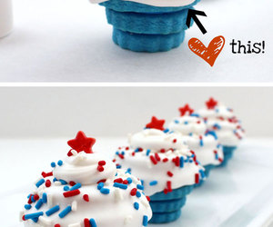 blue, cupcakes, and dessert image