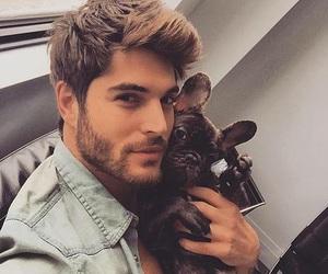 dog, boy, and Hot image