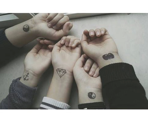 tattoo, friends, and black image