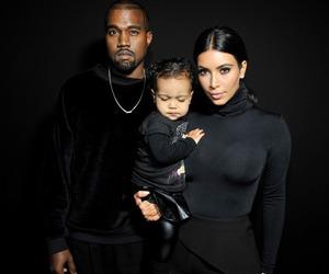 kanye west, kim kardashian, and family image